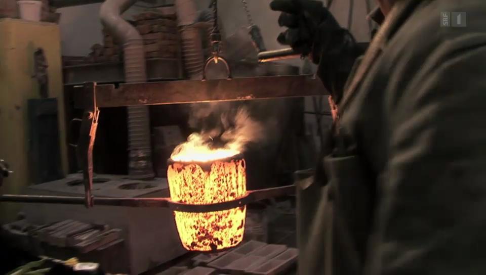 «Feuer und Flamme» für altes Handwerk: Kunstgiesserei St. Gallen