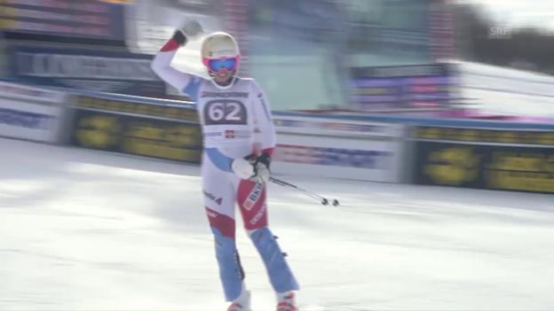 Video «Bestes Weltcup-Resultat: Der starke 2. Lauf von Gisin» abspielen