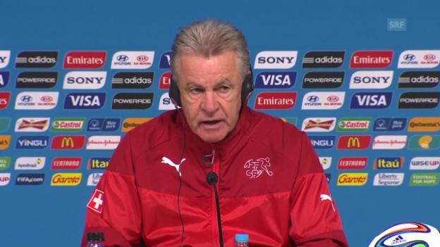 Video «Vor dem Argentinien-Spiel: Die Medienkonferenz der Schweizer Nati» abspielen
