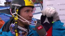 Video «Marcel Hirscher nach seinem 2. Platz im Adelboden-Slalom» abspielen