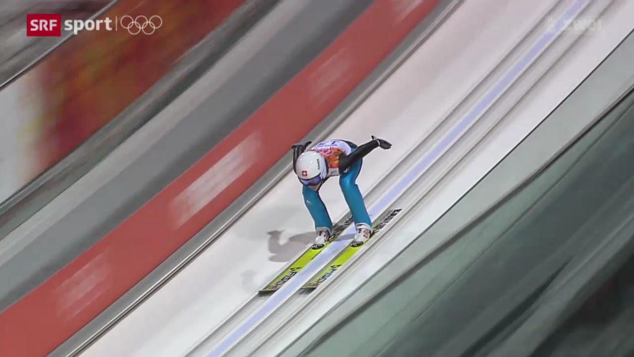 Skispringen: Bigna Windmüllers Auftritt in Sotschi (sotschiaktuell, 26.2.2014)