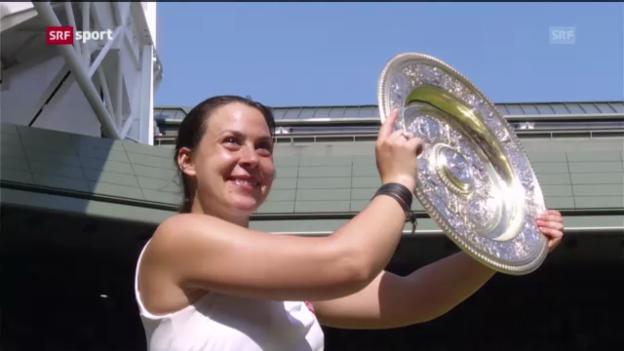 Video «Bartoli gewinnt in Wimbledon («sportaktuell»)» abspielen