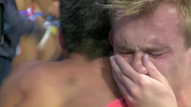Video «Tränen bei den britischen Goldboys» abspielen