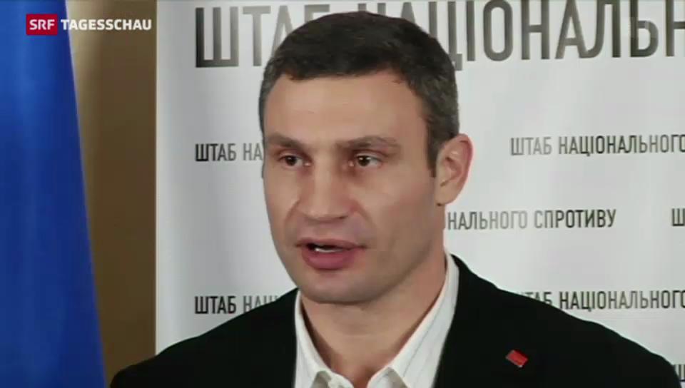 Vitali Klitschko kämpft weiter um Machtwechsel in Ukraine