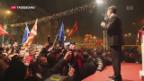 Video «Patt bei Parlamentswahlen in Mazedonien» abspielen