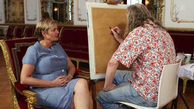 Video «Der Meisterfälscher - (2) Wolfgang Beltracchi porträtiert Gloria von Thurn und Taxis» abspielen
