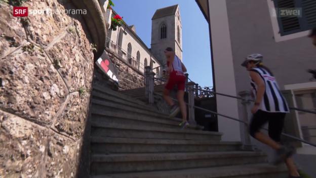 Video «Triathlon: Ironman 70.3 in Rapperswil» abspielen