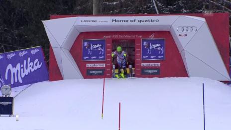 Video «Ski: Slalom Frauen, Santa Caterina, 2. Lauf Chiara Gmuer» abspielen