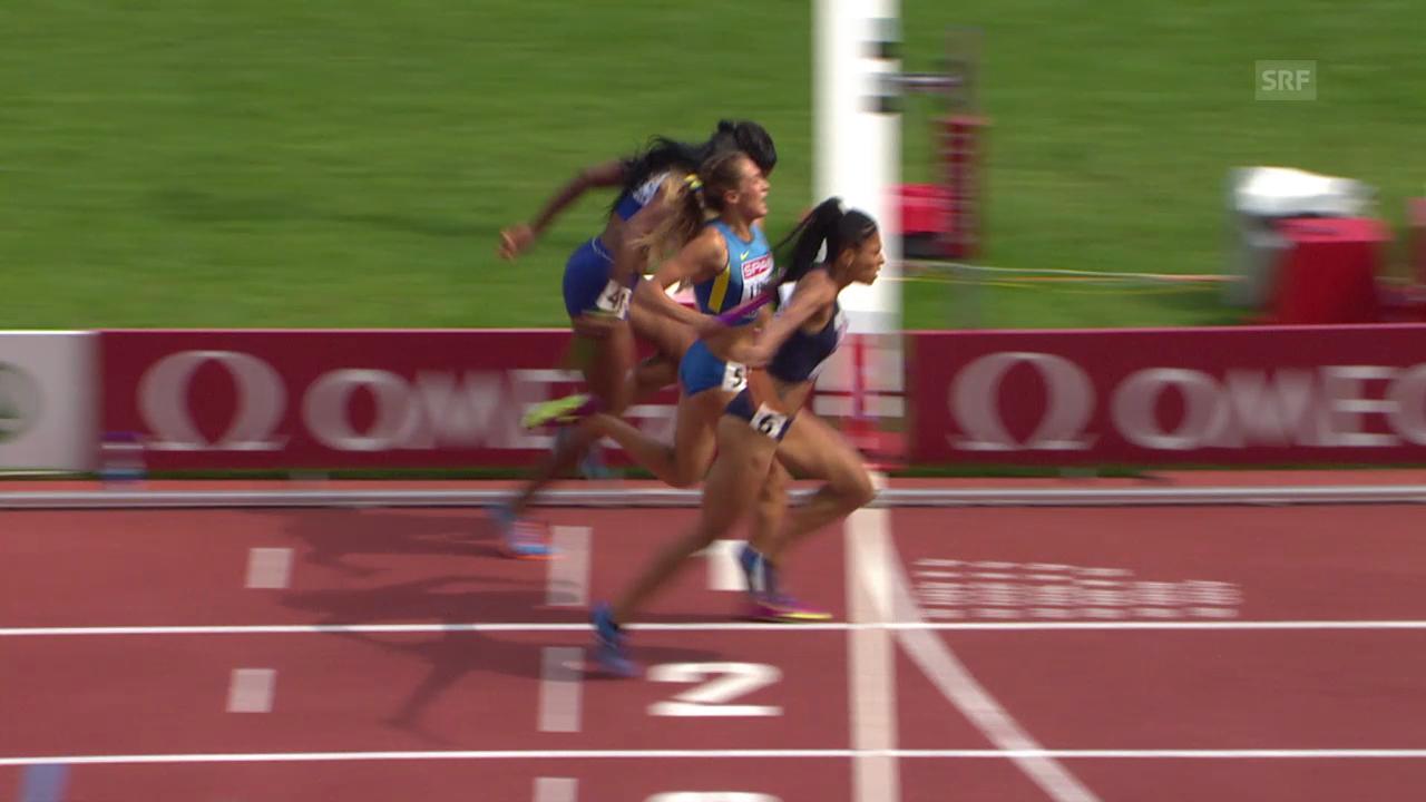 Leichtathletik-EM: Zieleinlauf in der 4x400-m-Staffel