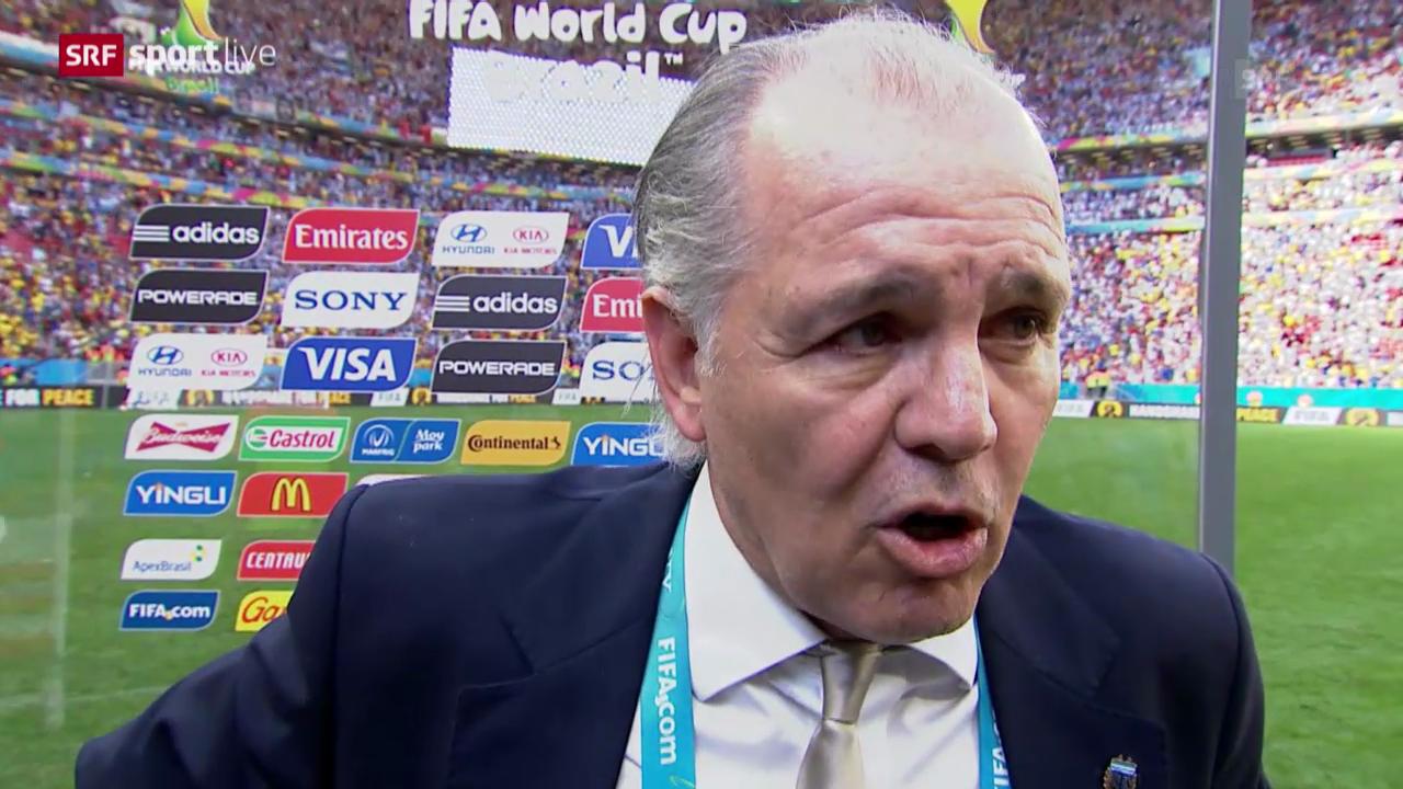 Fussball: WM 2014, Argentinien-Belgien, Interview mit Alejandro Sabella