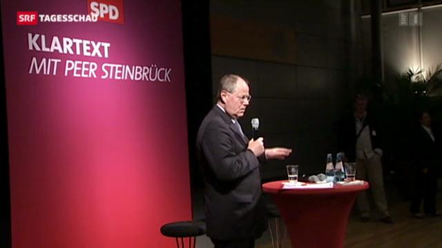 Steinbrück beleidigt Grillo und Berlusconi