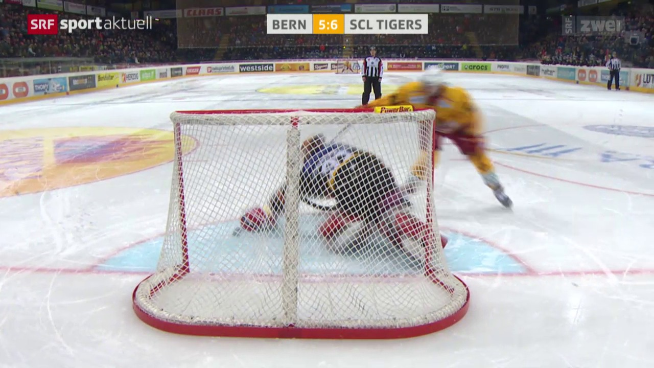 Eishockey: NLA, Bern - SCL Tigers, Penalty Thomas Nüssli