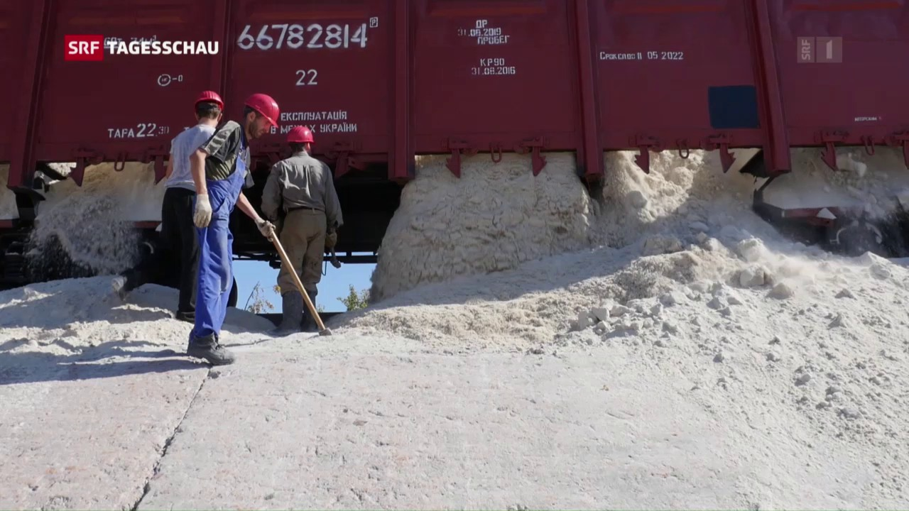 Quarzsandlieferung in Donezk angekommen