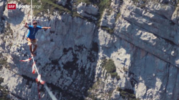 Video «Slackline – Weltrekordversuch zwischen den Churfirsten» abspielen