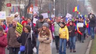 Video «Massendemos in Rumänien zeigen Wirkung» abspielen
