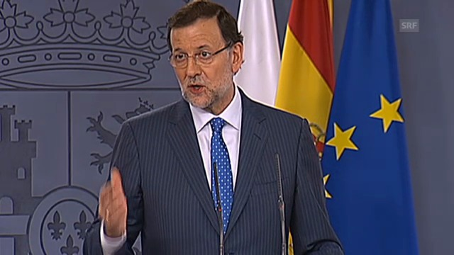 Tagesschau 15.7.: Mariano Rajoy rechtfertigt sich