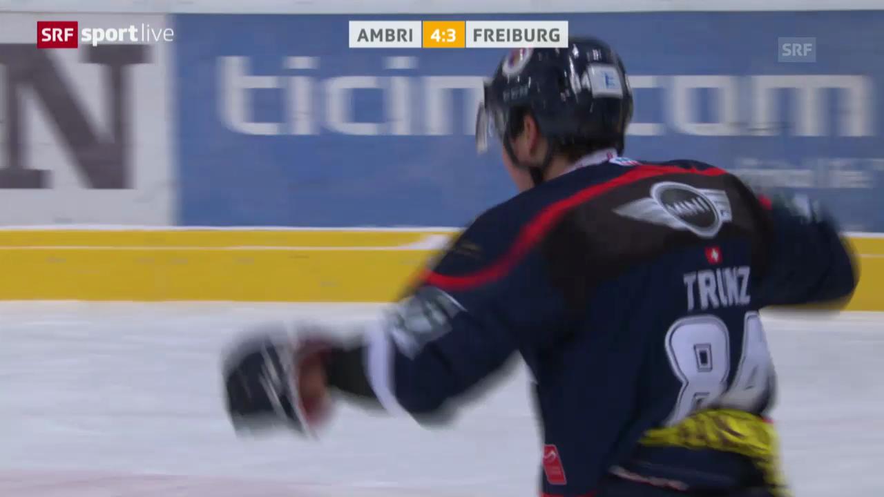 Eishockey: Ambri-Freiburg