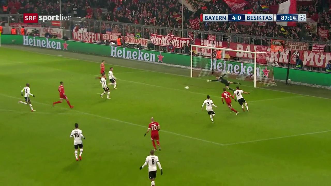 Die Live-Highlights bei Bayern - Besiktas