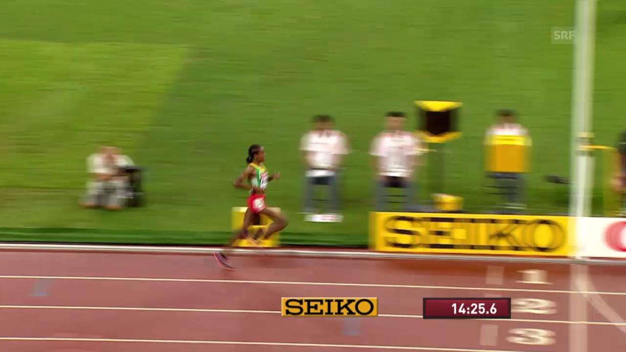 Leichtathletik: WM 2015 in Peking, 5000m Final der Frauen