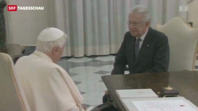 Monti trifft Benedikt XVI.