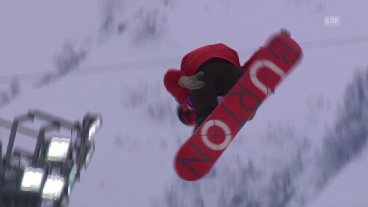 Snowboard: Zusammenfassung Halfpipe-Qualifikation Heat 1 (11.02.2014)