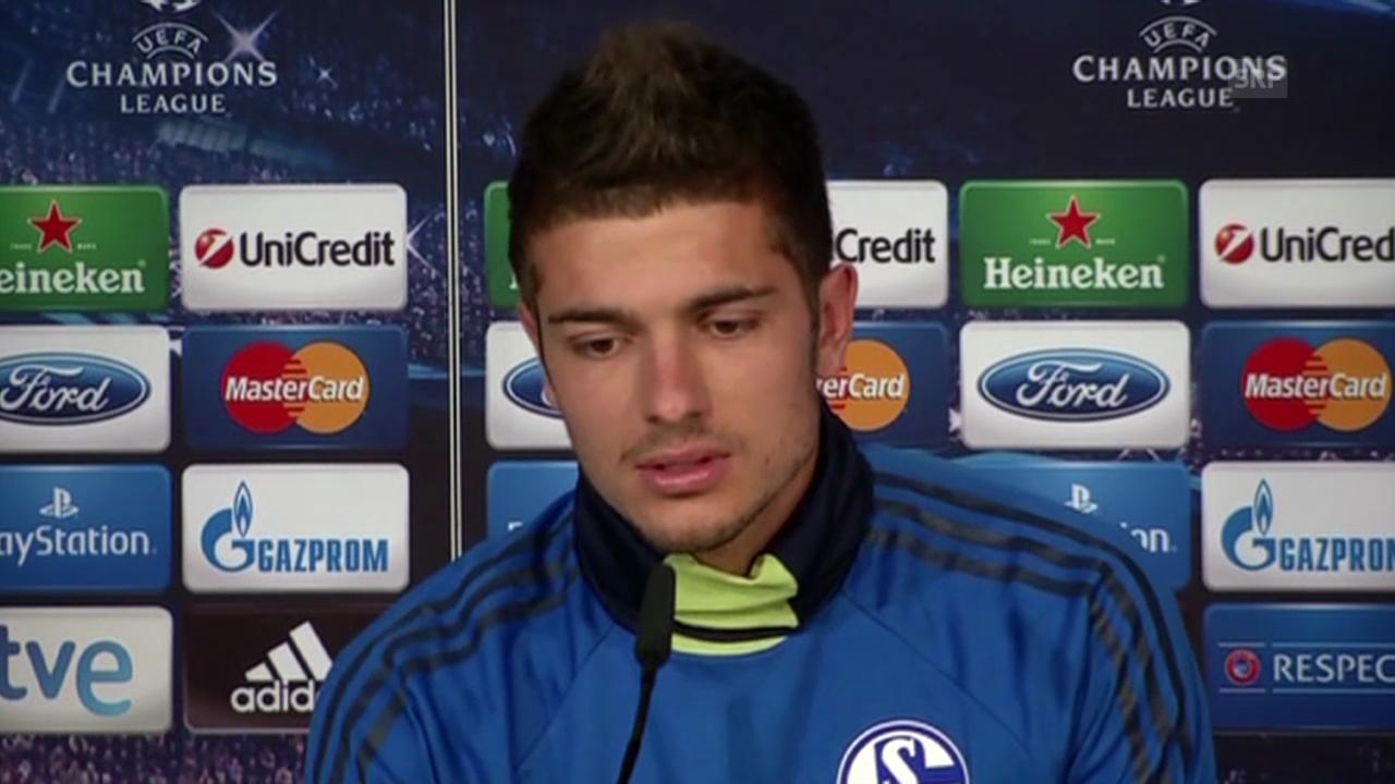 Fussball: Schalkes Roman Neustädter vor dem Real-Spiel (Quelle: SNTV)