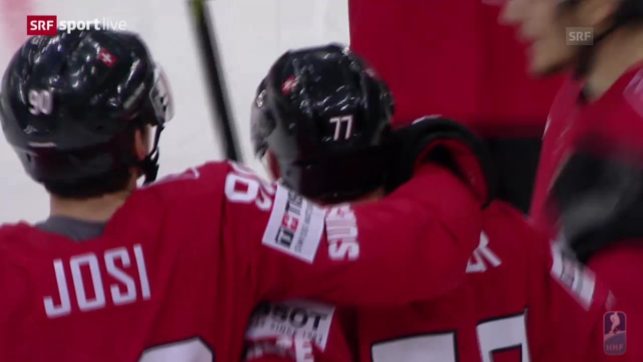 Eishockey: WM, Tore bei der Partie Schweiz-Kasachstan