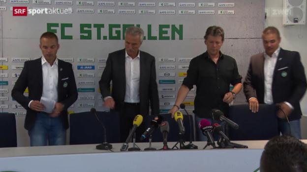 Video «Fussball: Jeff Saibene verlässt den FC St. Gallen» abspielen