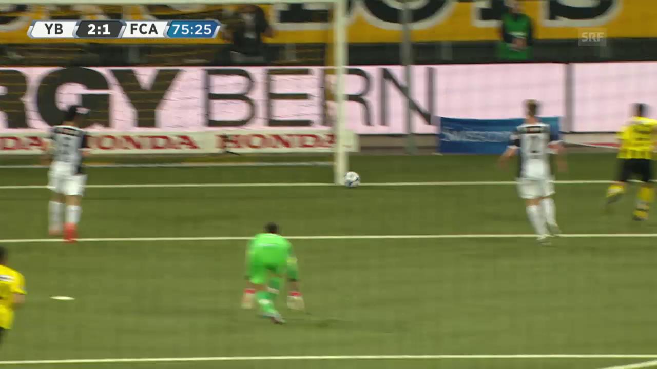 Fussball: Super League, 30. Runde, YB - Aarau, YB vergibt doppelt