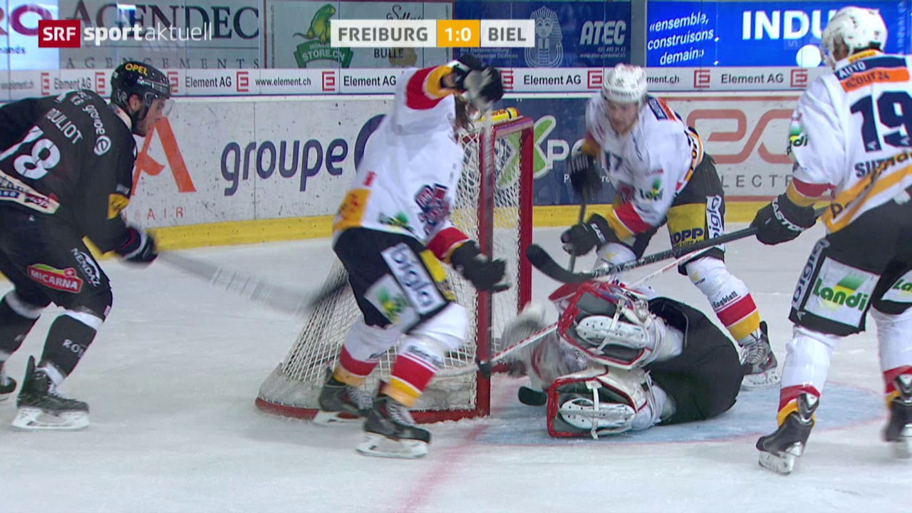 Eishockey: Freiburg - Biel