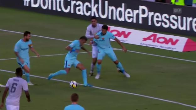 Video «Neymars Tor gegen Manchester United» abspielen