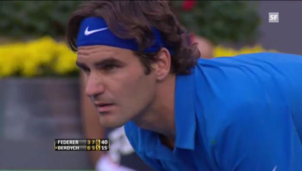 Video «ATP Madrid 2012: Final Federer - Berdych» abspielen