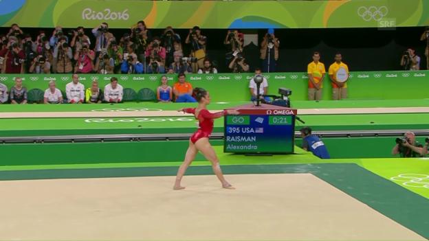 Video «Bodenübung von Alexandra Raisman» abspielen