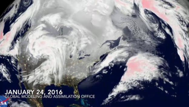 Video «Nasa-Bilder zeigen die Dimension des Wintersturms» abspielen