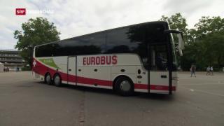 Video «Kein Ansturm auf Eurobus-Fahrten» abspielen