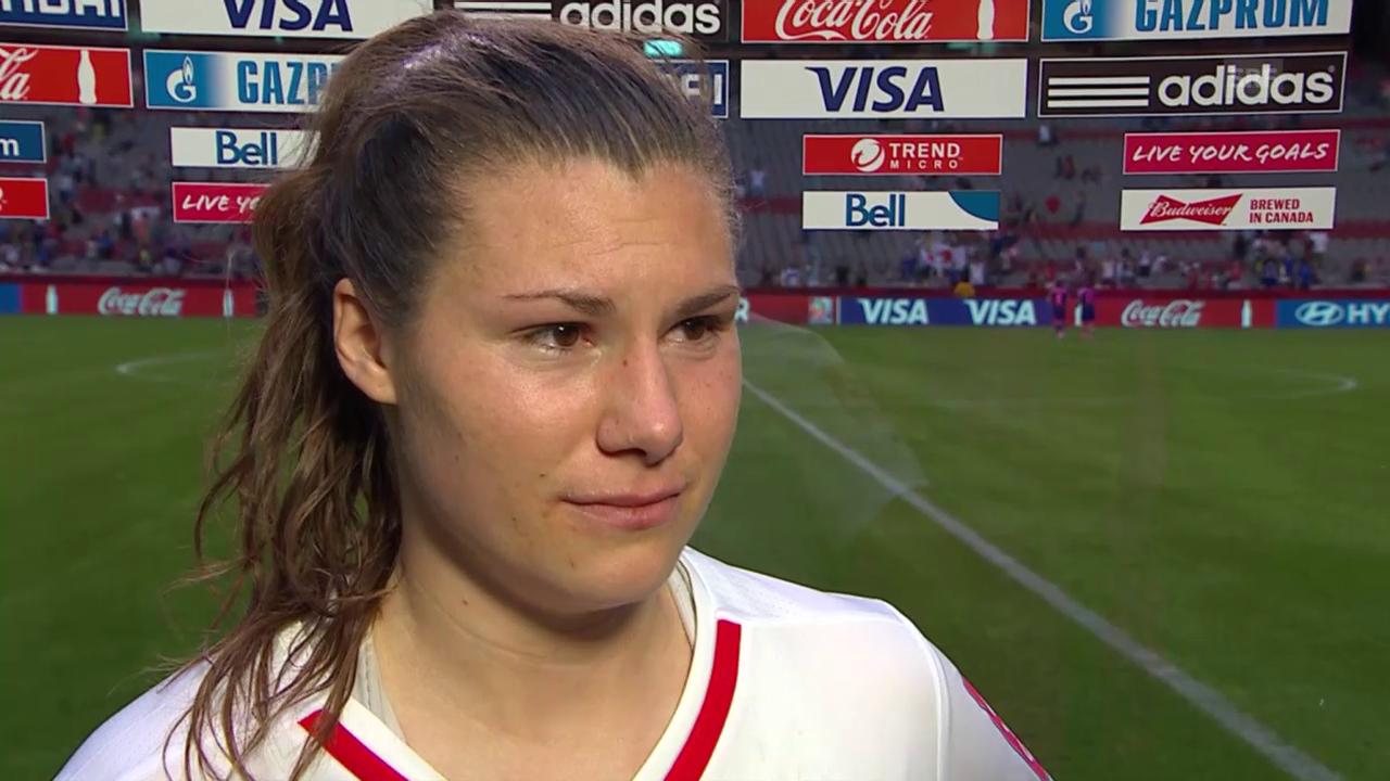 Fussball: Frauen-WM, Japan-Schweiz, Interview mit Ramona Bachmann