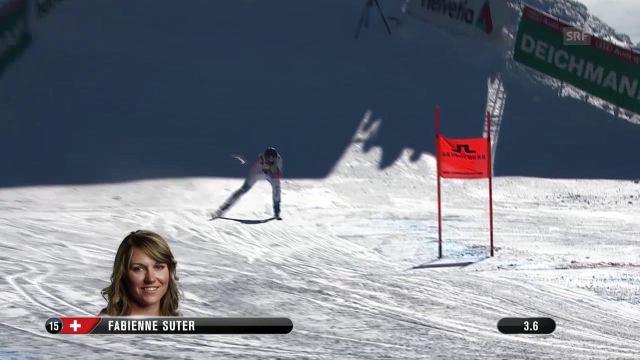 Ski: WM 2015 Vail/Beaver Creek, Abfahrt Frauen, Fahrt Fabienne Suter