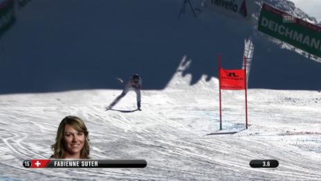 Video «Ski: WM 2015 Vail/Beaver Creek, Abfahrt Frauen, Fahrt Fabienne Suter» abspielen
