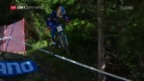 Video «Bruni und Atherton holen Downhill-Gold» abspielen