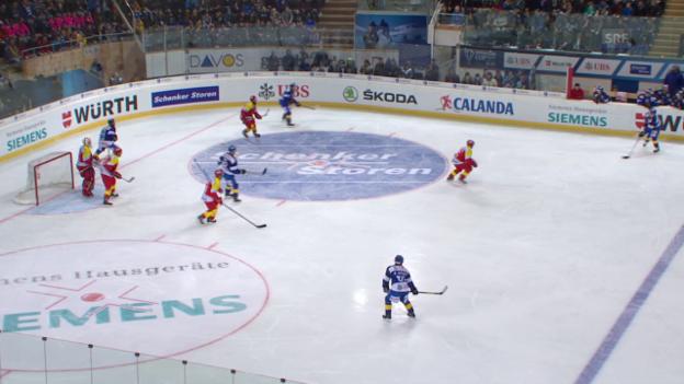 Video «Eishockey: Spengler Cup, Viertelfinal Davos - Jokerit» abspielen