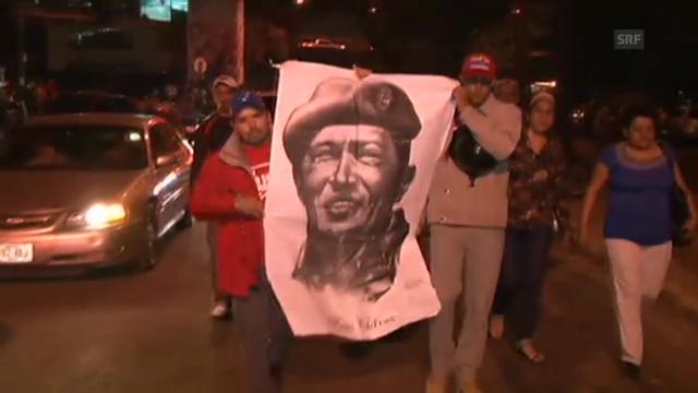 In Caracas trauern die Menschen um Chávez.