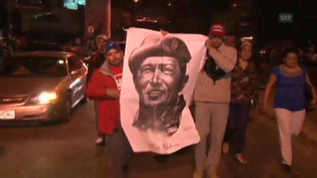 Video «In Caracas trauern die Menschen um Chávez.» abspielen