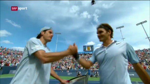 Video «Tennis: ATP Cincinnati, Federer - Haas» abspielen