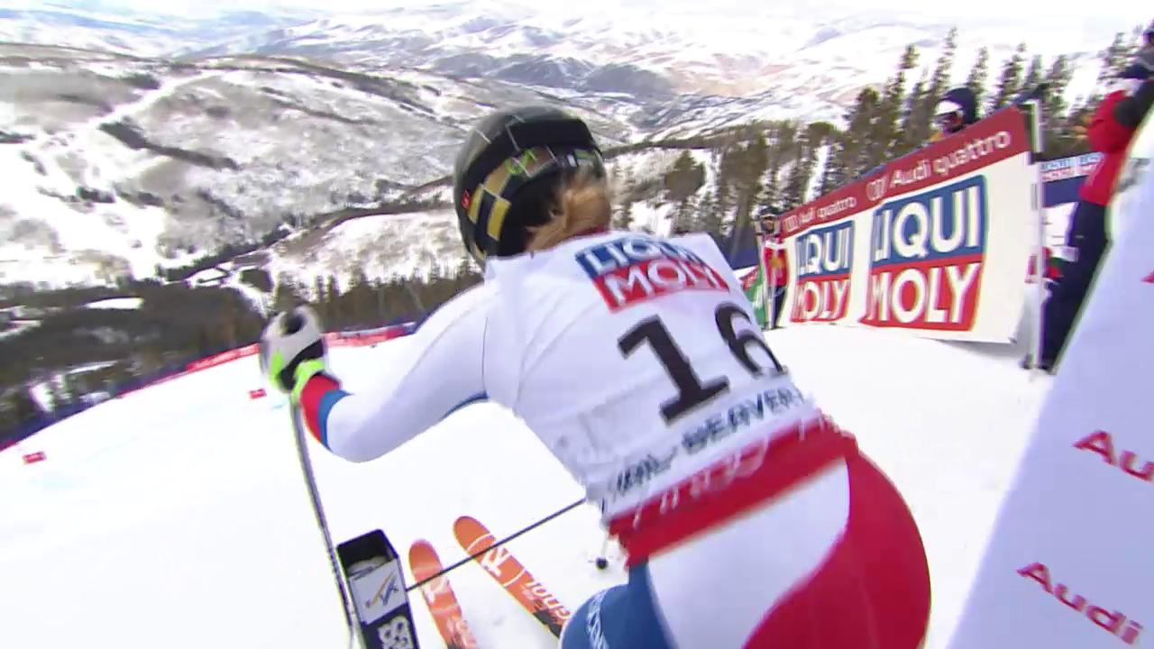 Ski Alpin: WM 2015 Vail/Beaver Creek, Super-G Frauen, die Fahrt von Lara Gut