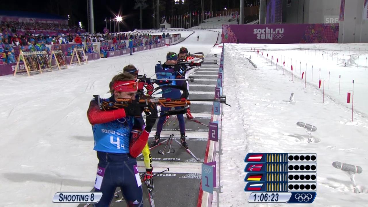 Biathlon: Die Entscheidung in der Männer-Staffel (sotschi direkt, 22.02.2014)