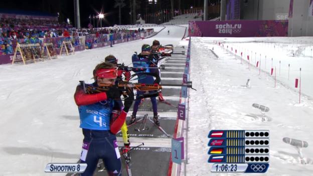 Video «Biathlon: Die Entscheidung in der Männer-Staffel (sotschi direkt, 22.02.2014)» abspielen