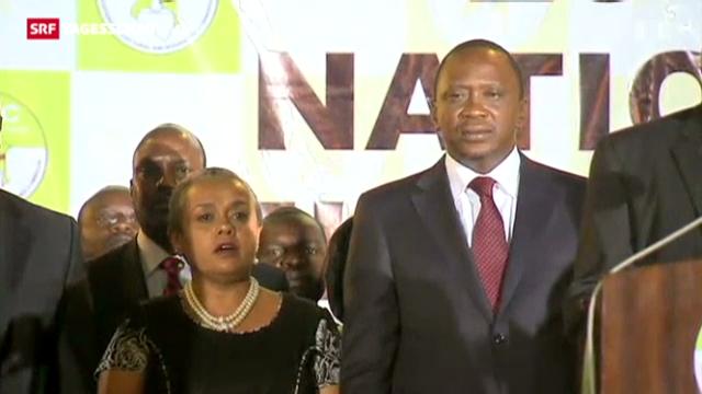 Kenyatta neuer Präsident Kenias