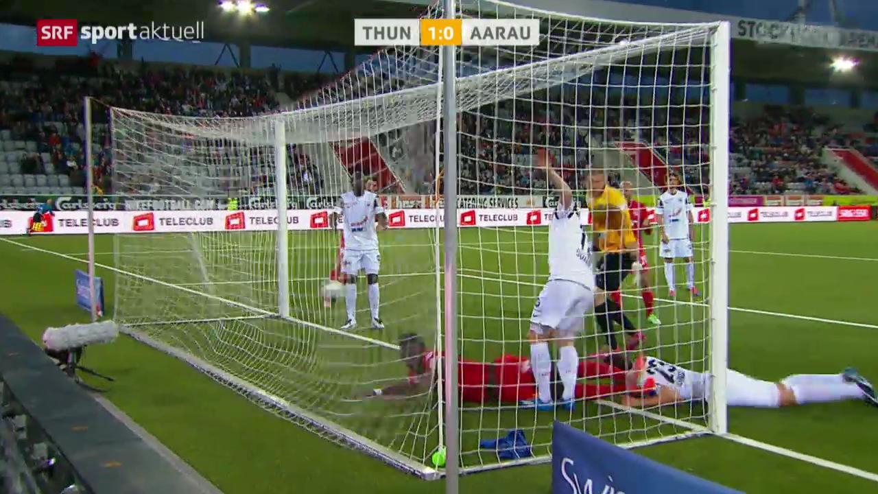 Fussball: Super League, Thun-Aarau