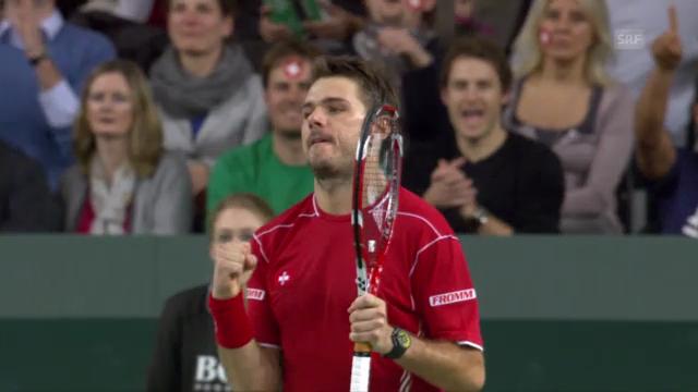 Davis Cup: Zusammenfassung Wawrinka - Rosol