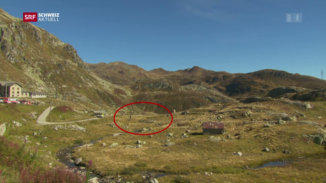 Helikopter-Absturz auf dem Gotthard